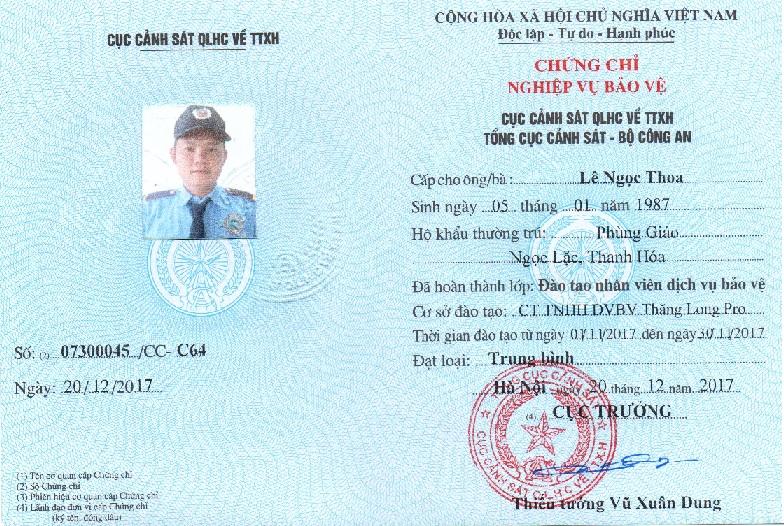 cong ty bao ve tai long an - Le Dinh Thoa