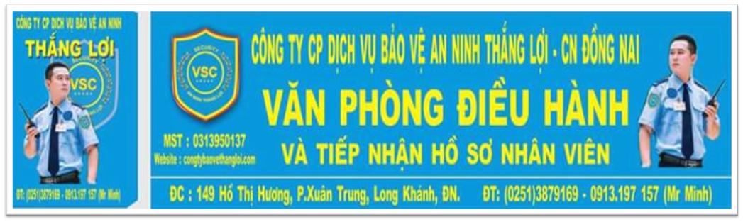 baner thang loi tai dong nai